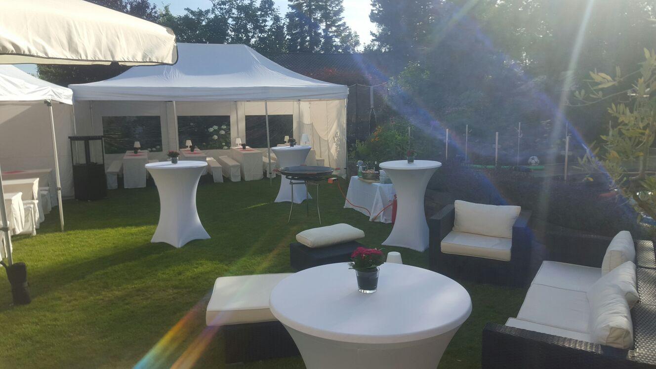 Gartenparty 90-120 Personen - Eventverleih Frankfurt